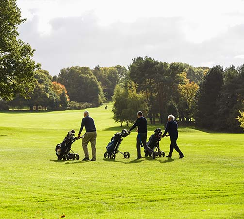 Golfers at Royal Norwich