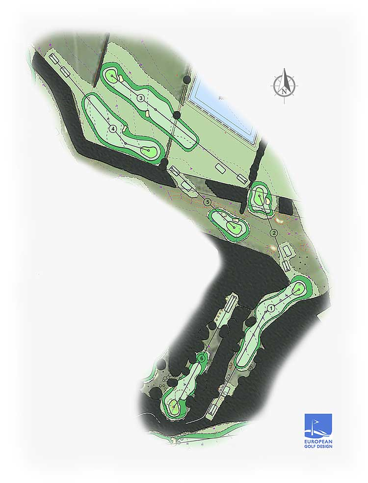 Royal Norwich 6 hole map at new course