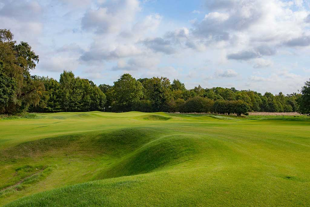 Photo of hole at new Royal Norwich course