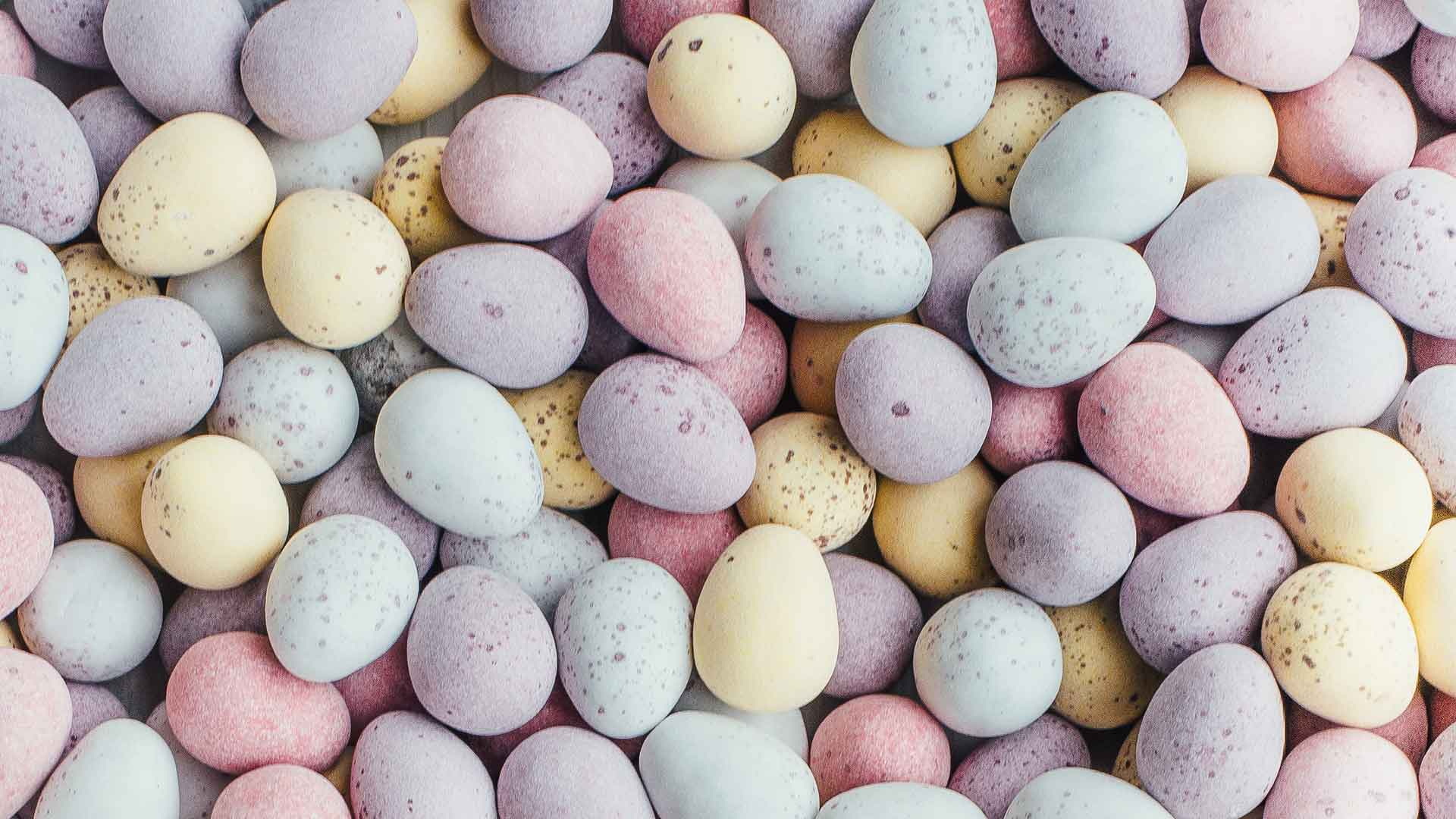 mini eggs at easter