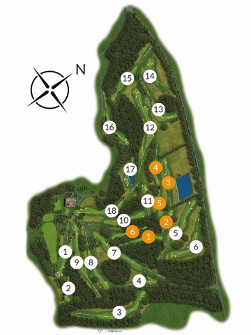 Royal Norwich 18-hole course map